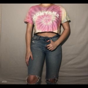 Tops - Cropped Montana Tie Dye Top